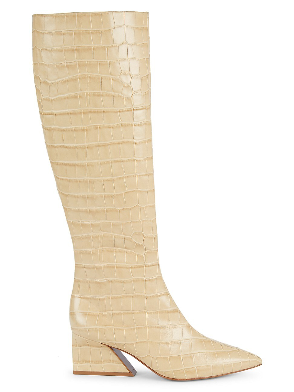 Mercedes Castillo WOMEN'S KYLE POINT-TOE CROC-EMBOSSED LEATHER BOOTS