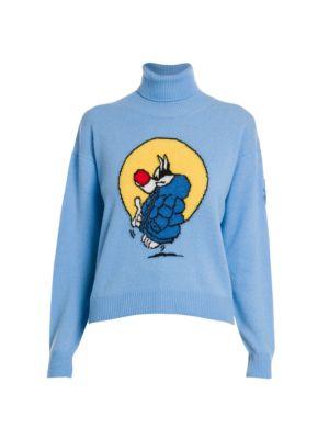 Moncler Genius 1 Moncler JW Anderson Sylvester Comic Cashmere & Wool Turtleneck Sweater