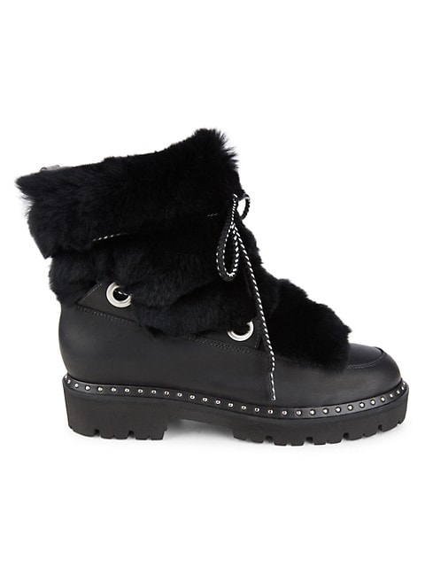 Jolie Rabbit Fur-Trim & Shearling-Lined Leather Boots