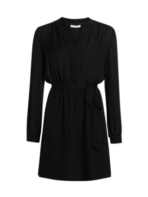 Joie Leonore Tie-Waist Silk Shirtdress | SaksFifthAvenue