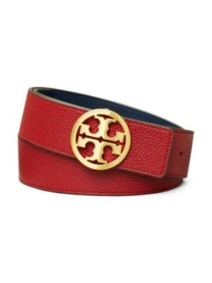 Tory Burch Belts Reversible Leather Logo Belt