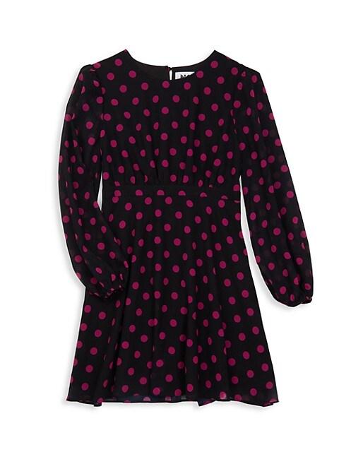 Girl's Elma Polka Dot Dress