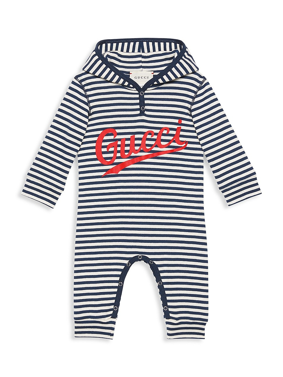 GUCCI BABY'S STRIPED GG COVERALL