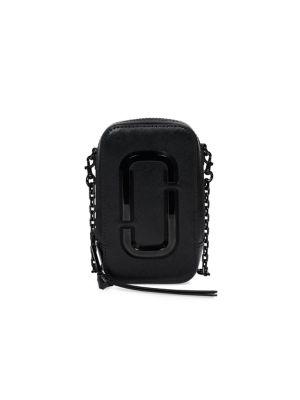 마크 제이콥스 폰백 Marc Jacobs The Hot Shot Leather Crossbody Bag,BLACK