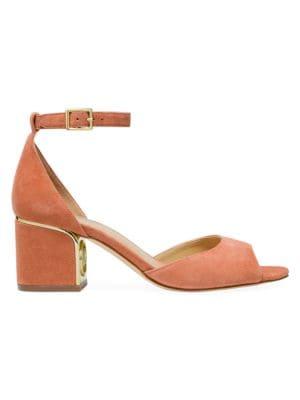 Michael Michael Kors Lana Suede Ankle-Strap Block Heels