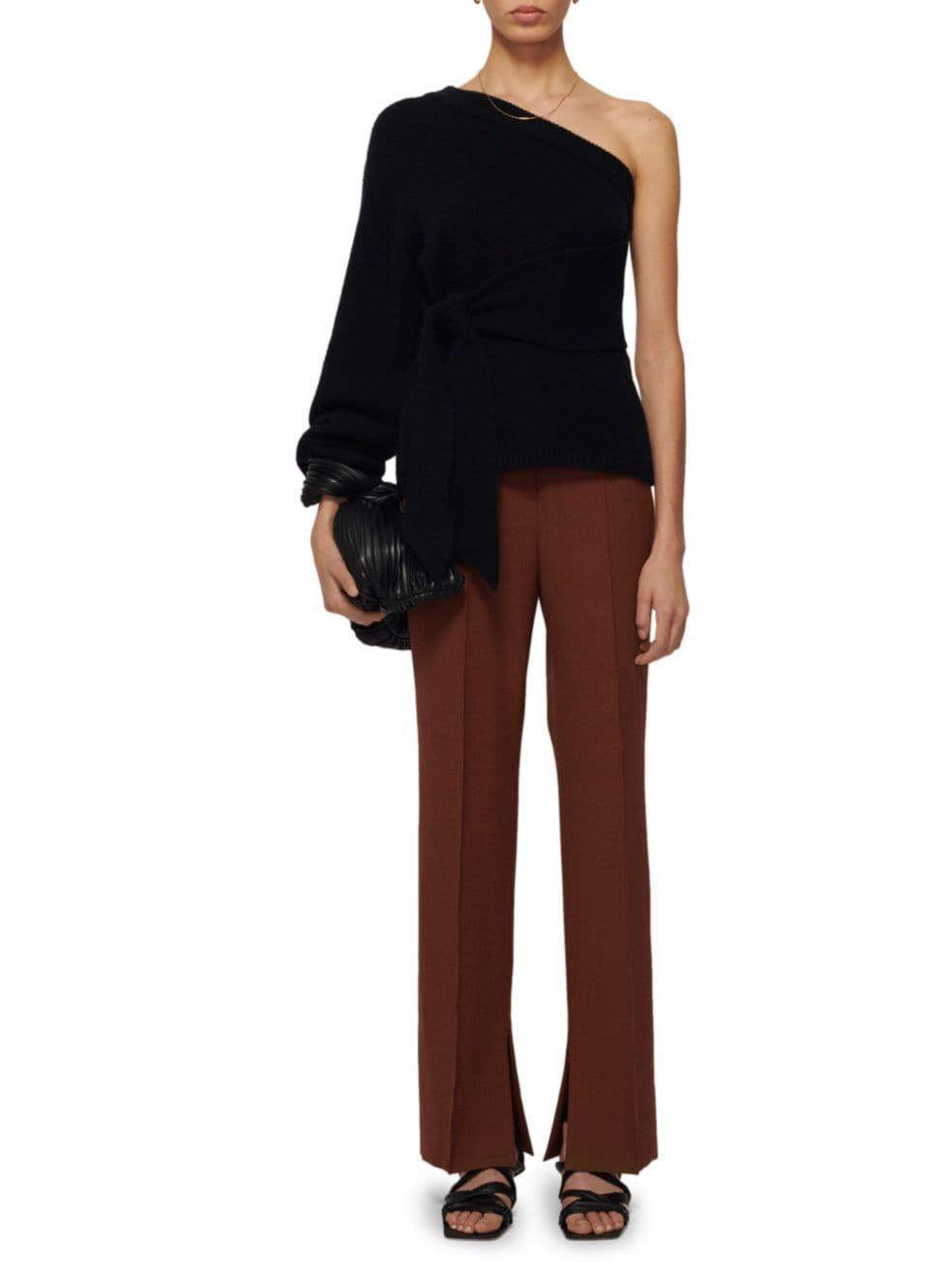 Nanushka Cleto One-Sleeve Asymmetric Sweater   SaksFifthAvenue
