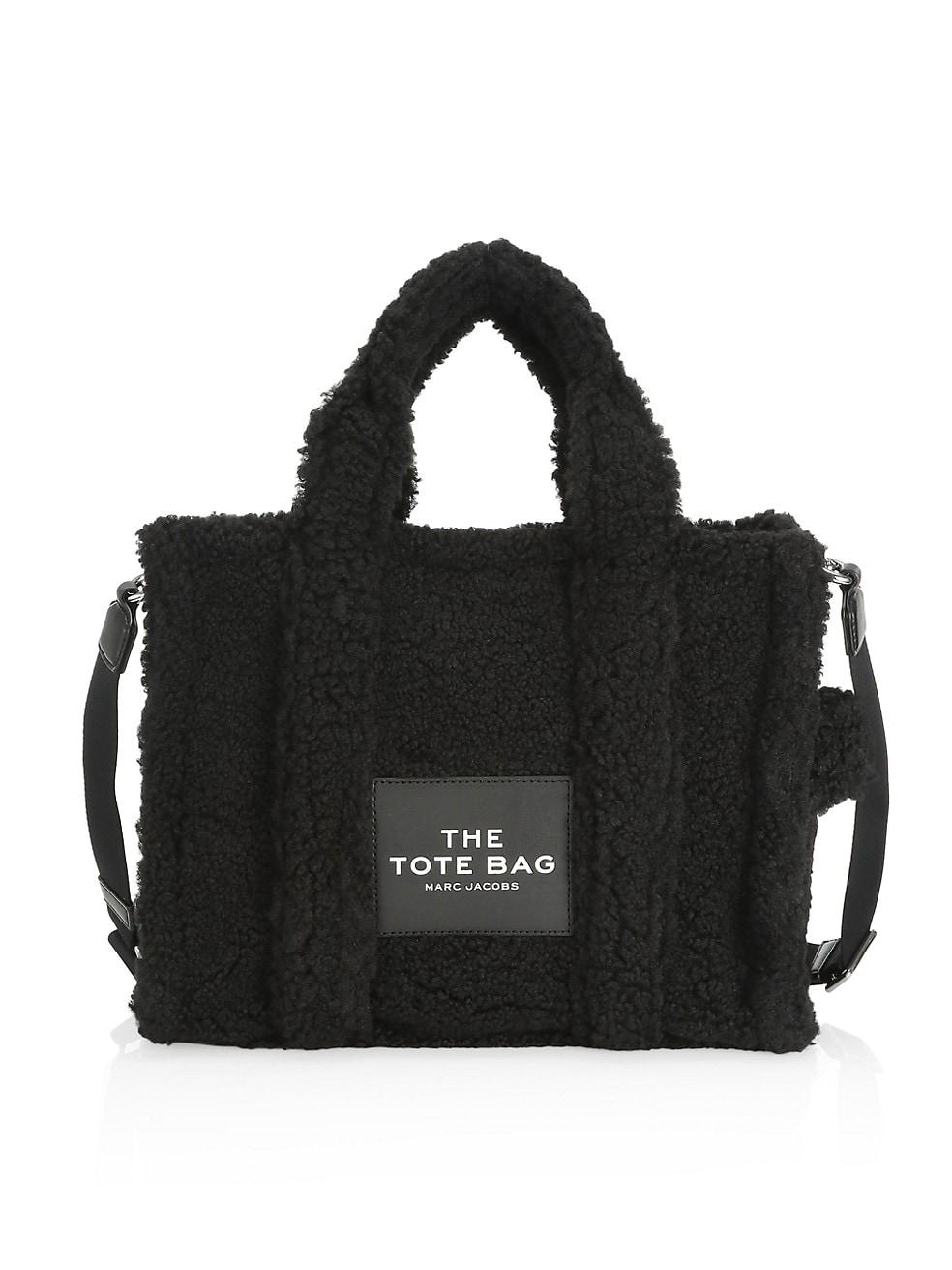 마크 제이콥스 토트백 Marc Jacobs Small Traveler Faux Fur Tote,BLACK