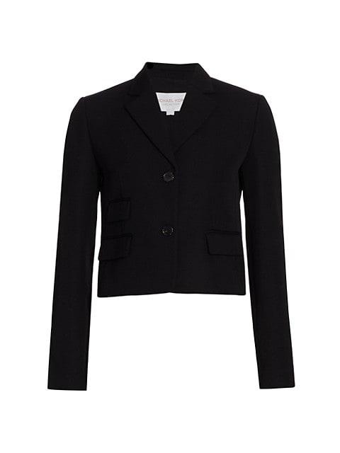 Wool Gabardine Cropped Jacket