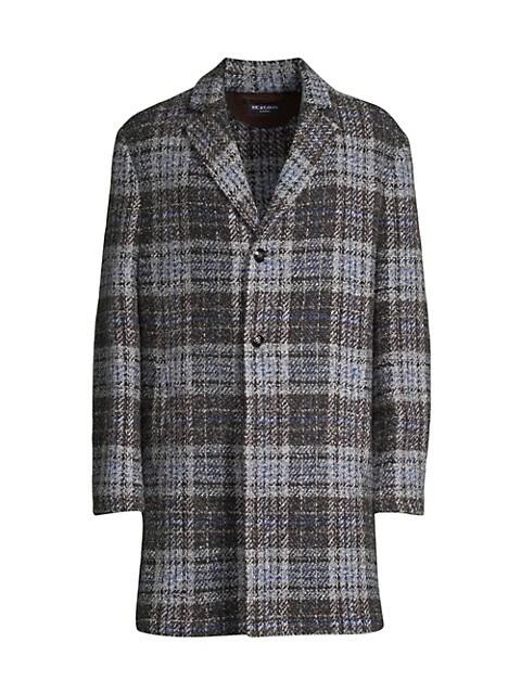 Plaid Suede Patch Jacket