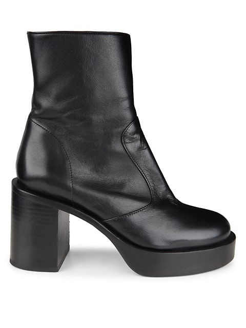Raid Leather Platform Ankle Boots