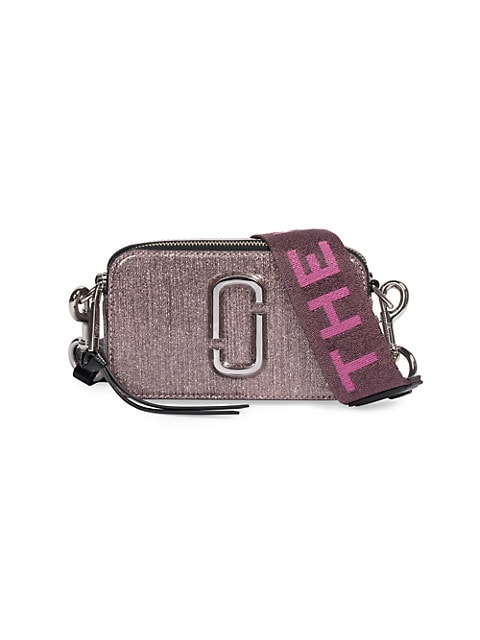 The Snapshot Metallic Leather Camera Bag