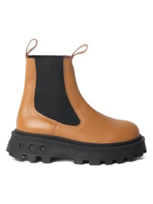 Simon Miller Leathers Chili Sauce Scrambler Leather Boot
