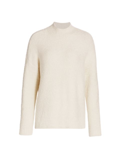 Saks Fifth Avenue COLLECTION Boucle Boxy Funnel-Neck Sweater | SaksFifthAvenue