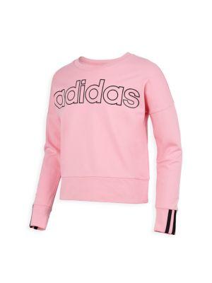 Adidas Girls Pullover Sweatshirt T-Shirt
