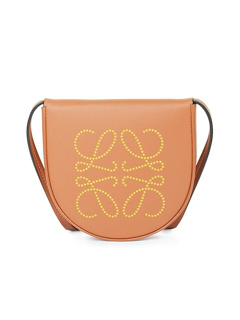 Heel Dotted Leather Saddle Bag