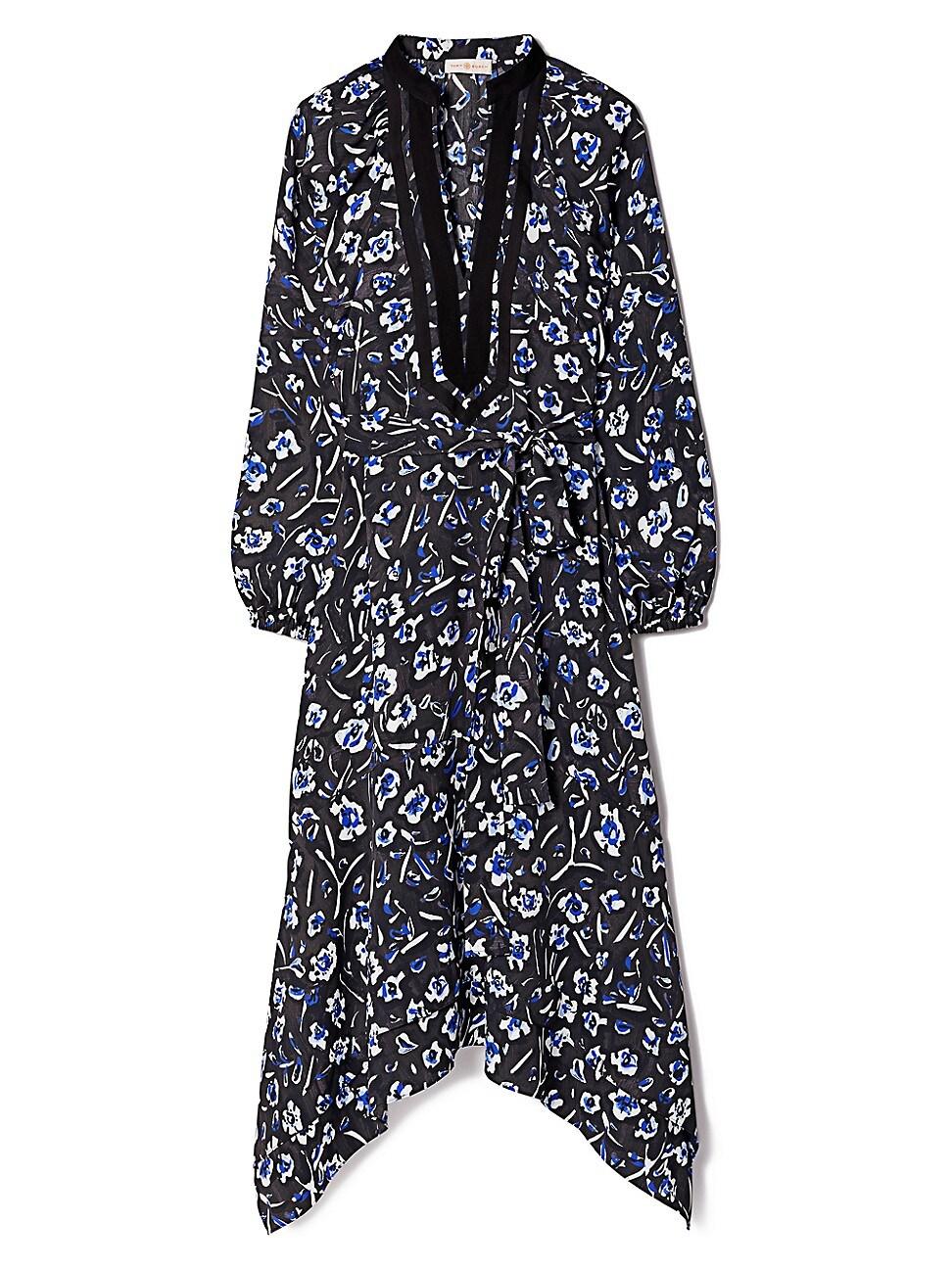 TORY BURCH WOMEN'S PUFF-SLEEVE TUNIC DRESS