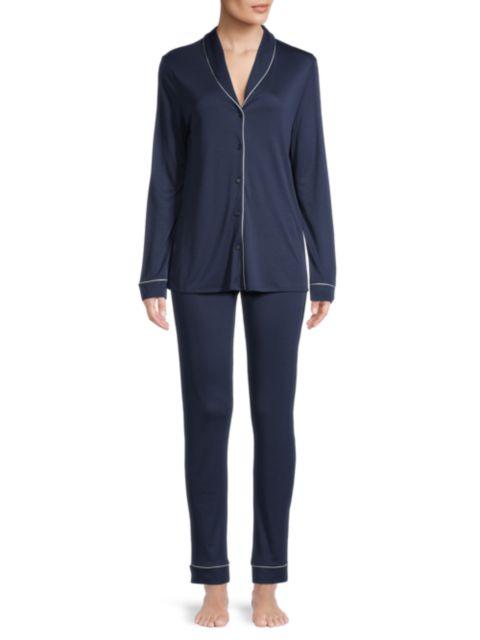 Hanro Natural Comfort 2-Piece Long Pajama Set | SaksFifthAvenue