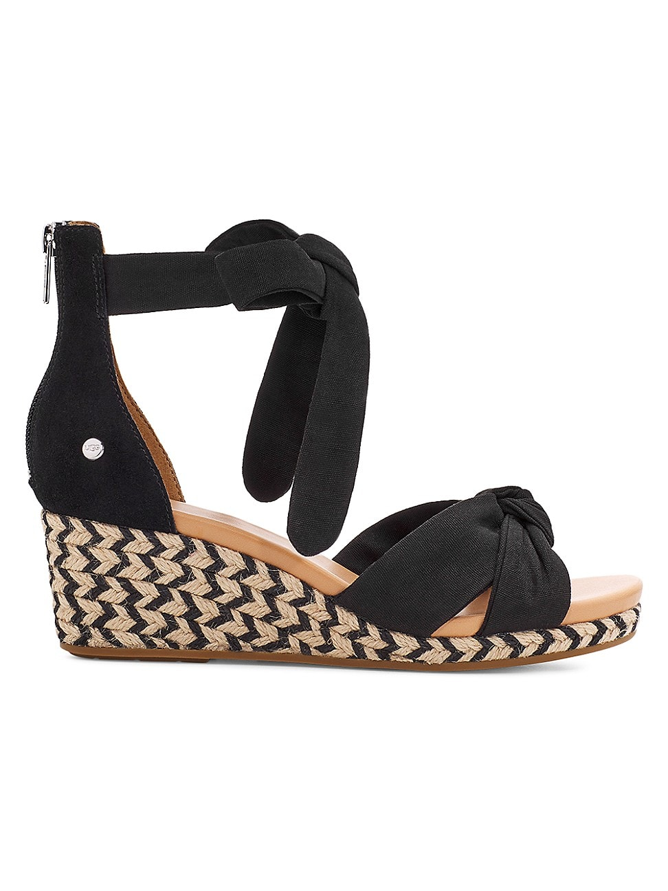 Ugg Wedges WOMEN'S YARROW SUEDE ESPADRILLE WEDGE SANDALS