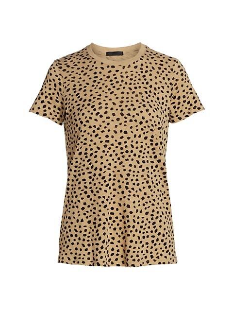 Cheetah Print Slub Jersey T-Shirt