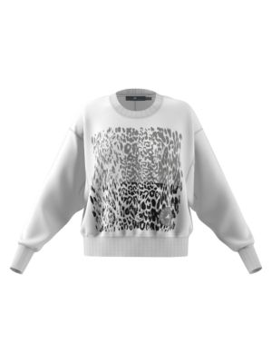 Adidas By Stella Mccartney Graphic Leopard-Print Sweatshirt