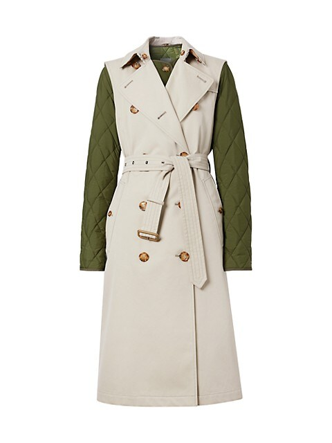 Rothes 2-Piece Quilted Warmer & Sleeveless Trench Coat