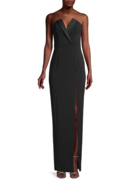 Jay Godfrey Sylvia Tuxedo Lapel Column Dress | SaksFifthAvenue