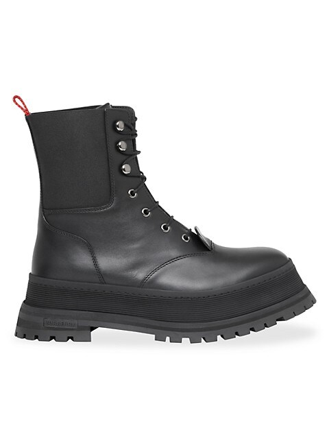 Springton Leather Combat Boots