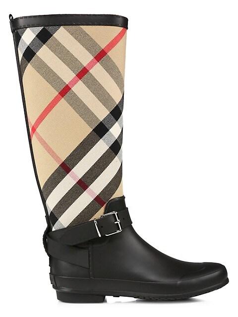 Simeon Knee-High Vintage Check Boots