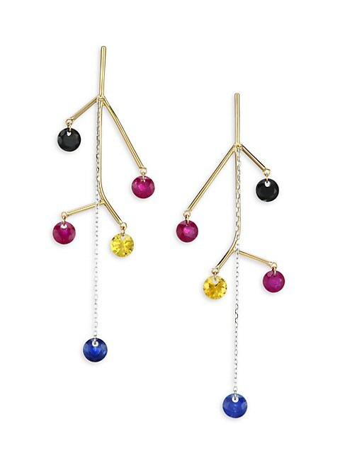 Mobiles 18K Yellow Gold & Multi-Stone Drop Earrings