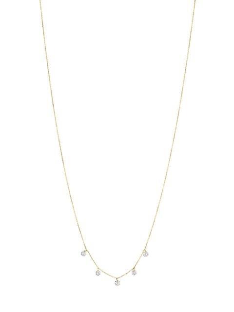 Danae 18K Yellow Gold & 5 Diamond Necklace