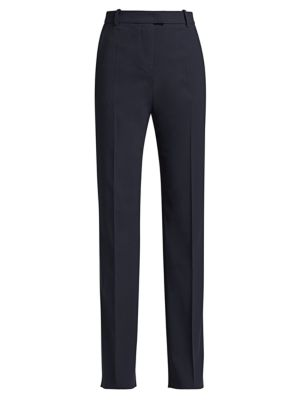 Giorgio Armani Stretch-Wool Straight-Leg Pants