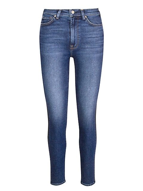 Coated High-Waisted Ankle Skinny Jeans