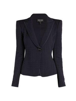 Giorgio Armani Jersey Matelasse Jacket