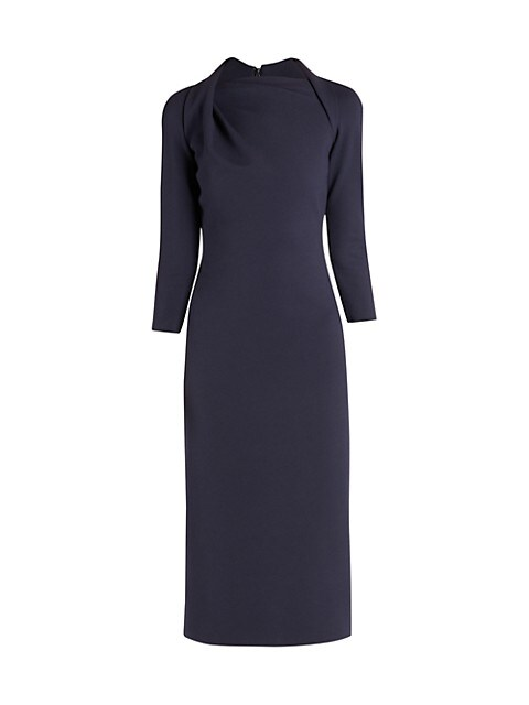 Milano Jersey Draped Neck Sheath Dress