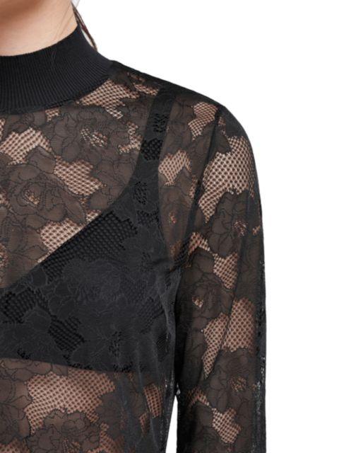 Wolford Frankie Lace Long-Sleeve Top | SaksFifthAvenue