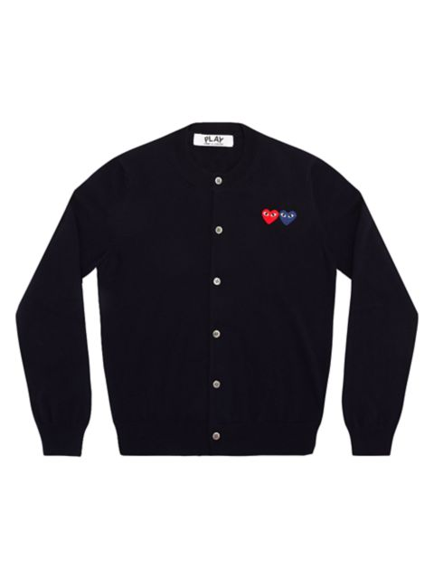 Comme des Garcons Play Double Heart Wool Cardigan | SaksFifthAvenue