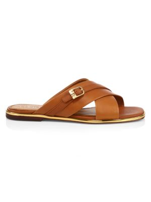 Tory Burch Delaney Leather Slide Sandals