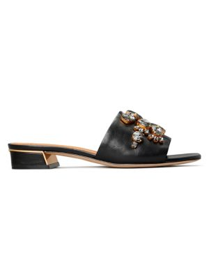 Tory Burch Martine Embellished Leather Mules