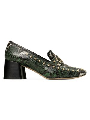 Tory Burch Tory Snakeskin-Embossed Leather Loafers