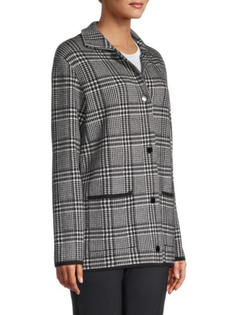 Seventy Plaid Short Coat | SaksFifthAvenue
