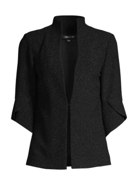 Misook Sparkle Petal-Sleeve Jacket | SaksFifthAvenue