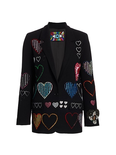 Heart Embellished Blazer