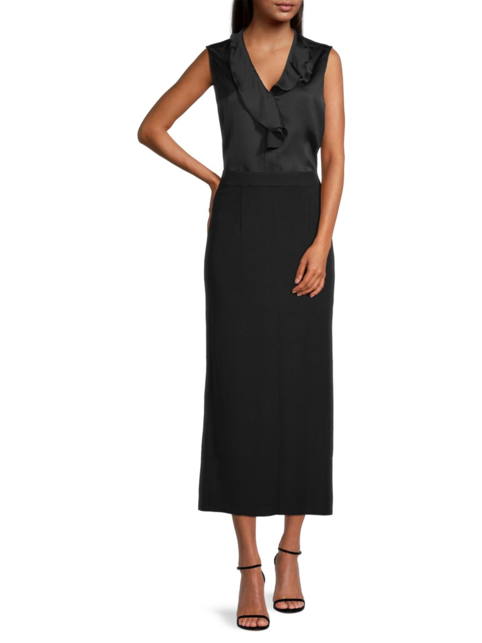 Misook Knit Long Straight Skirt | SaksFifthAvenue