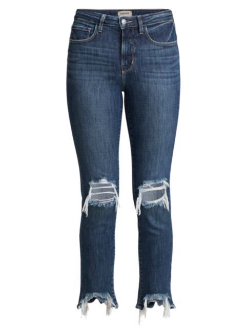 L'Agence High Line High-Rise Distressed Skinny Jeans | SaksFifthAvenue