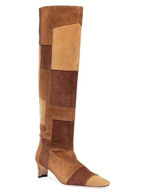 Wally Tall Patchwork Suede Boots