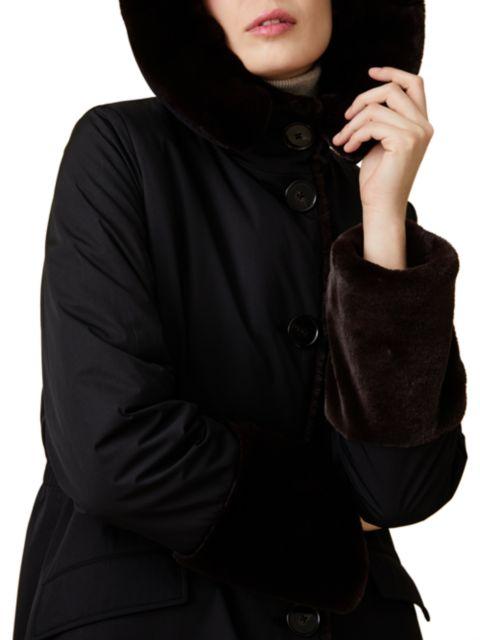Jane Post Faux Fur-Lined Storm Coat | SaksFifthAvenue