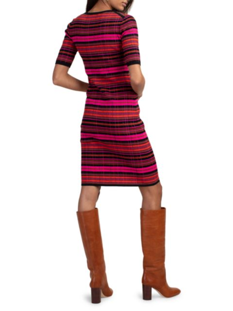 Trina Turk Stunning Striped Knit Dress | SaksFifthAvenue