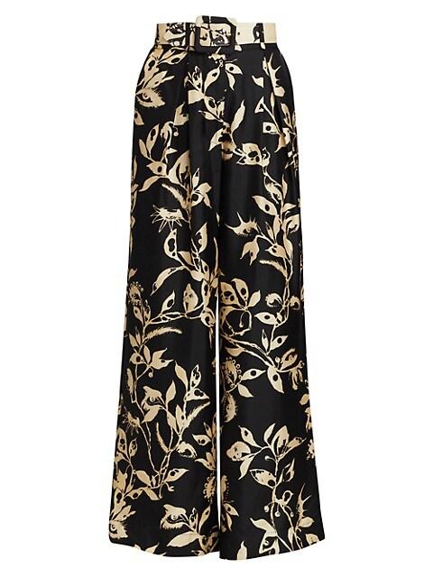Ladybeetle Wide-Leg Silk Trousers