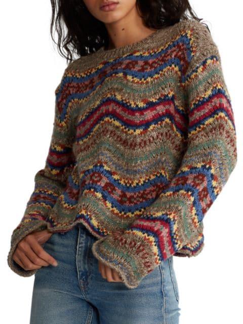 Polo Ralph Lauren Wave Classic Wool-Cashmere Sweater | SaksFifthAvenue