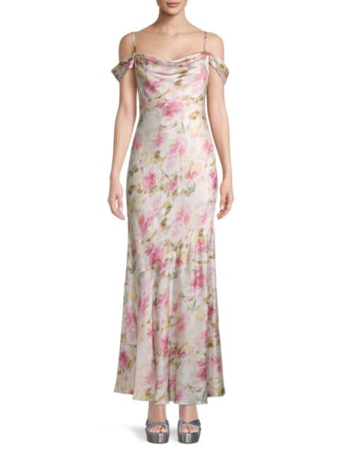FAME AND PARTNERS The Leanna Floral Print Dress | SaksFifthAvenue